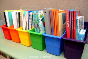 homeschool-book-organizer-bins